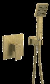 Смеситель встраиваемый с душевым набором Bennberg 18DK111 Бронза