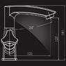 Смеситель Elghansa NEW WAVE DELTA 1907593 для умывальника двухвентильный, хром
