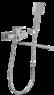 Смеситель для ванны Bennberg однорычажный длинный излив 191021 Хром