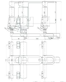 Смеситель для ванны Bennberg однорычажный длинный излив 191023 Хром