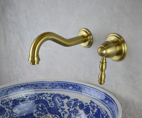 Смеситель для раковины встраиваемый BronzeDeLuxe TIFFANY 1920BR BRONZE