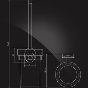 Держатель ерша настенный Elghansa WORRINGEN WRG-810 стекло, хром
