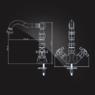 Смеситель Elghansa PRAKTIC CHROME 19A2660 для умывальника двухвентильный, хром