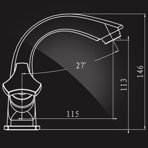 Смеситель Elghansa NEW WAVE DELTA 19A7593 для умывальника двухвентильный, хром