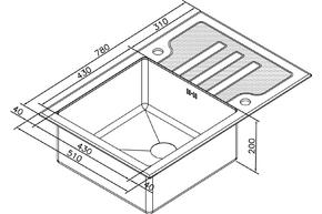 Мойка для кухни Zorg GL-7851-BLACK-BRONZE