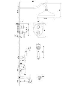 Душевая система скрытого монтажа Lemark Brava LM4722G золото