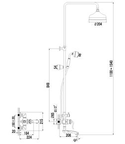 Душевая система Lemark Brava LM4762G золото