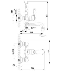 Смеситель для ванны Lemark Villa LM4812B бронза