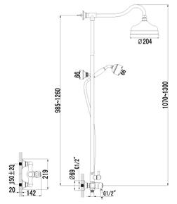 Душевая система Lemark Villa LM4860B бронза