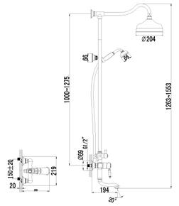 Душевая система Lemark Villa LM4862B бронза