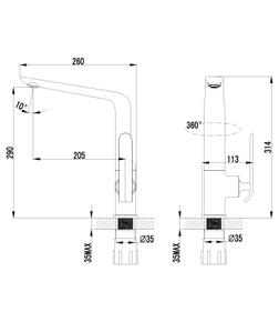 Смеситель для кухни Lemark Melange LM4905CW хром/белый