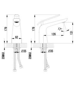 Смеситель для умывальника Lemark Melange LM4906CW хром/белый