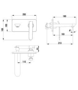 Смеситель для умывальника Lemark Melange LM4926CW хром/белый