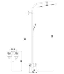 Душевая система Lemark Melange LM4960CW хром/белый