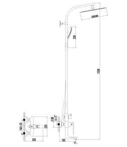 Душевая система Lemark Melange LM4962CW хром/белый