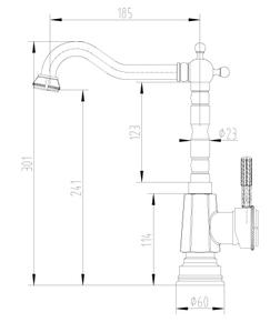 Смеситель для кухни Lemark Jasmine LM6605B бронза
