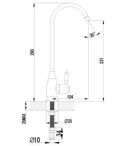 Кран для питьевой воды Lemark Villa LM4840B бронза