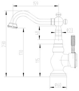 Смеситель для кухни Lemark Jasmine LM6644B бронза
