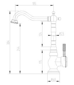 Смеситель для кухни Lemark Jasmine LM6645B бронза