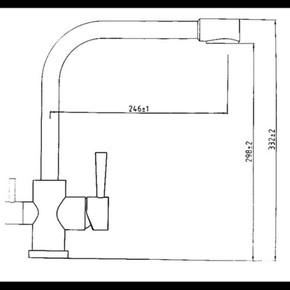 Смеситель для кухни под фильтр KAISER Merkur 26044-4 Sandbeige