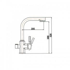 Смеситель для кухни под фильтр KAISER Decor 40144-4 Sandbeige