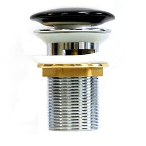 Донный клапан Melana T201B с переливом (черный)