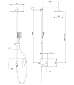 Душевая система Lemark Mista LM6462WG белый/золото