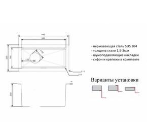 Мойка для кухни Zorg R 2344