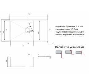 Мойка для кухни Zorg R 7844
