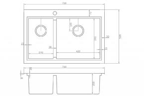 Мойка для кухни Zorg FLASH ZM X-5278-R