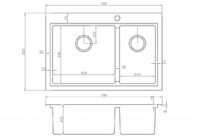 Мойка для кухни Zorg DIXI ZM R-5278-L