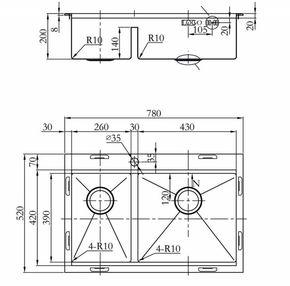 Мойка для кухни Zorg FINESS ZM R-5278-R