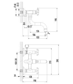Смеситель для ванны Lemark Practica LM7512C хром