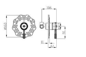 Смеситель для душа скрытого монтажа Zorg A 105DK-BR