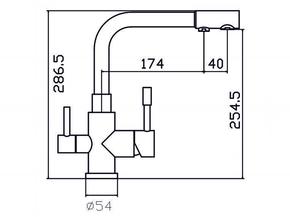 Смеситель под фильтр Zorg SZR-1339 M AER