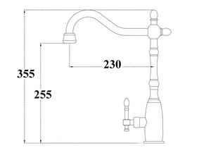 Смеситель Bennberg 205054 для кухни,черный