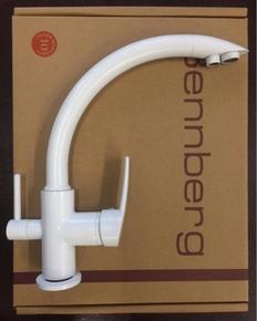 Смеситель для кухни Bennberg однорычажный 20F5050,белый