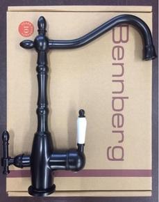 Смеситель для кухни Bennberg 20F5054-02 с подключением под фильтр,черный