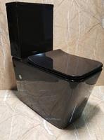 Керамический безободковый унитаз Ceramalux NS-2170-18 черный глянцевый