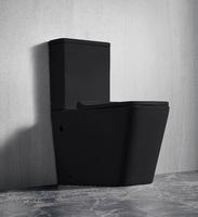 Унитаз напольный приставной безободковый RIMLESS Ceramalux 2171MB,черный матовый