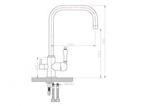 Смеситель для кухни под фильтр ZORG ZR 318 YF-33 BR
