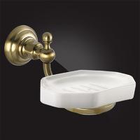 Мыльница для ванной с держателем Elghansa PRAKTIC Bronze Accessories PRK-451-Bronze керамика, бронза