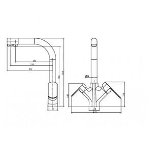 Смеситель для кухни под фильтр KAISER Arena 33066-1 Bronze