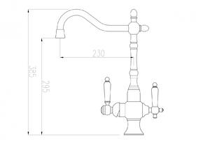 Смеситель под фильтр ZORG ZR 336 YF-50 SATIN