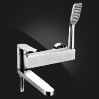 Смеситель Elghansa PLATEA 2301102 для ванной однорычажный с душевым комплектом, хром