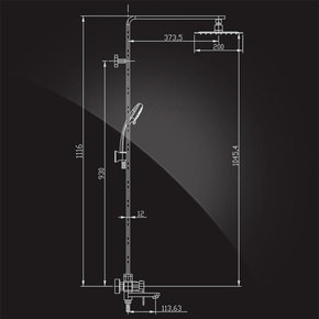 Душевая система Elghansa MONDSCHEIN 2302235-2G-white со стационарной лейкой 300x200 мм