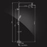 Душевая система Elghansa MONDSCHEIN NEW 2302233-2G со стационарной лейкой 300x200 мм, хром