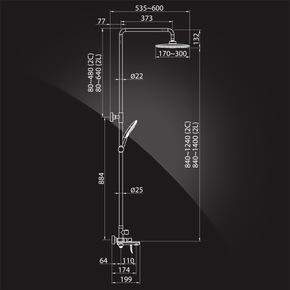 Душевая система Elghansa SHOWER SET 2305599-2L (Set-22-New), хром