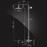 Душевая система Elghansa NEW WAVE DELTA 2307593-2A со стационарной ABS лейкой 200 мм, хром