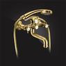 Смеситель Elghansa PRAKTIC BRONZE 2312660-Bronze для ванны двухвентильный с душевым комплектом, бронза